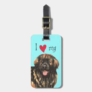 I Love my Leonberger Luggage Tag