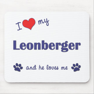I Love My Leonberger (Male Dog) Mouse Pad