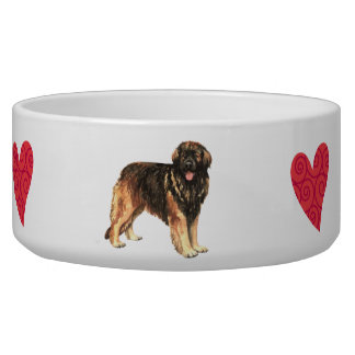 I Love my Leonberger Dog Bowls