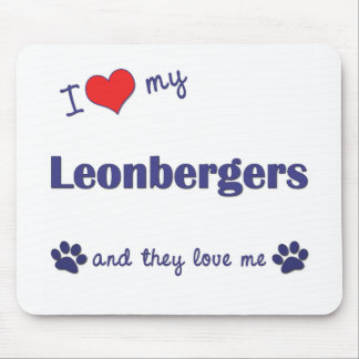 I Love My Leonbergers (Multiple Dogs) Mouse Pad