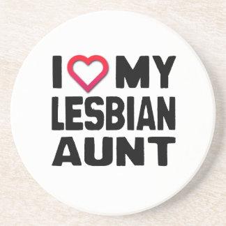 I LOVE MY LESBIAN AUNT -.png Beverage Coaster