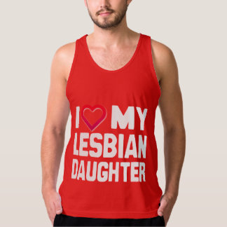 I LOVE MY LESBIAN DAUGHTER - -.png American Apparel Fine Jersey Tank Top