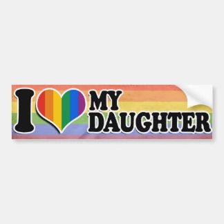 I LOVE MY LESBIAN DAUGHTER -.png Car Bumper Sticker