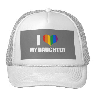 I LOVE MY LESBIAN DAUGHTER - .png Trucker Hat