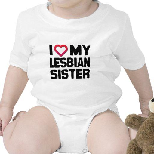 I LOVE MY LESBIAN SISTER -.png Baby Bodysuit