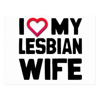 I LOVE MY LESBIAN WIFE -.png Postcard