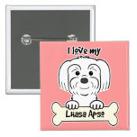 I Love My Lhasa Apso Button