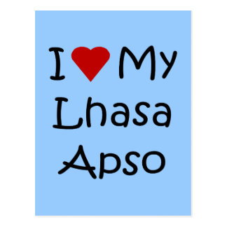 I Love My Lhasa Apso Dog Lover Gifts Postcard