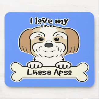 I Love My Lhasa Apso Mousepads