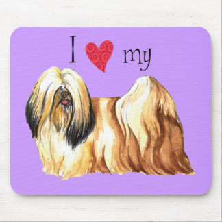 I Love my Lhasa Apso Mouse Pad