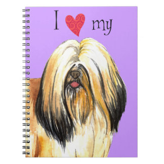 I Love my Lhasa Apso Spiral Note Book