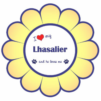 I Love My Lhasalier (Male Dog) Statuette