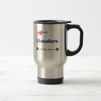 I Love My Lhasaliers (Multiple Dogs) Mugs