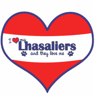 I Love My Lhasaliers (Multiple Dogs) Photo Cut Outs