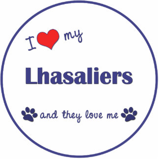 I Love My Lhasaliers (Multiple Dogs) Photo Sculpture