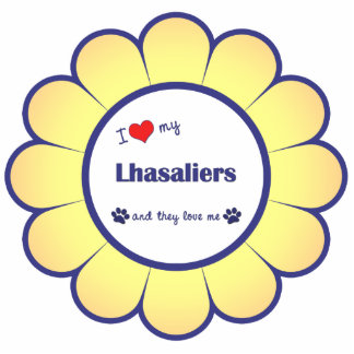 I Love My Lhasaliers (Multiple Dogs) Acrylic Cut Out