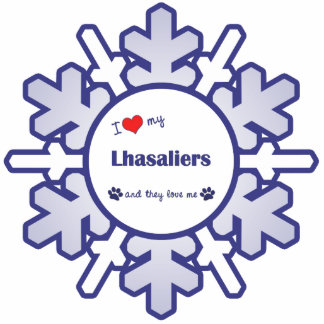 I Love My Lhasaliers (Multiple Dogs) Photo Sculptures