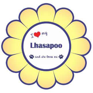 I Love My Lhasapoo (Female Dog) Statuette