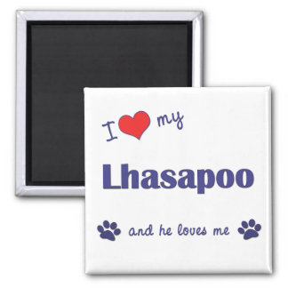 I Love My Lhasapoo (Male Dog) Magnet