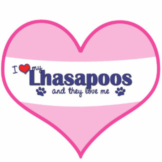 I Love My Lhasapoos (Multiple Dogs) Statuette