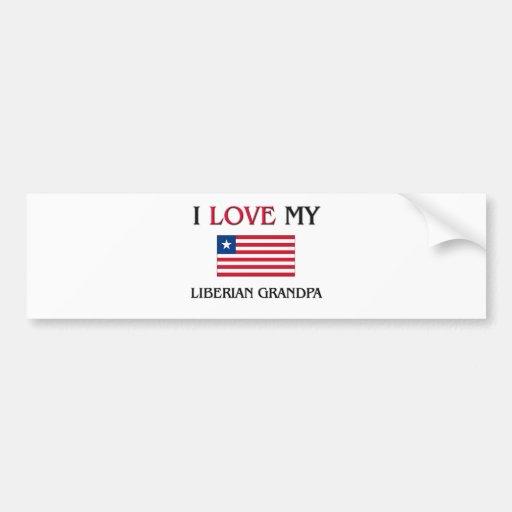 I Love My Liberian Grandpa Bumper Sticker