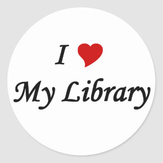 I love my library classic round sticker