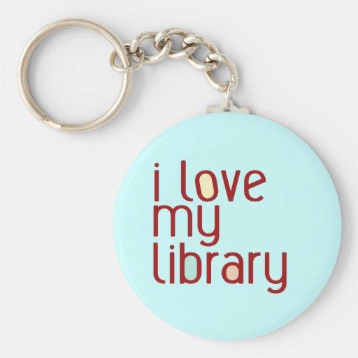 I love my library key chain