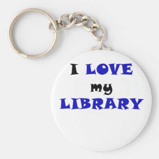 I Love my Library Keychain
