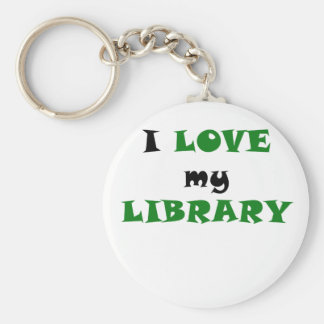 I Love my Library Key Chains