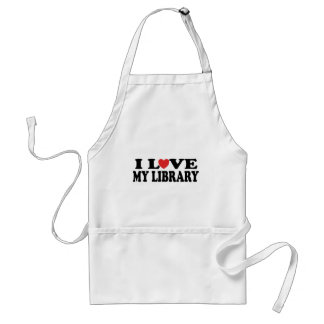 I Love My Library Librarian Gift Adult Apron