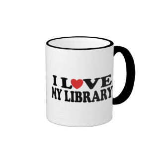 I Love My Library Librarian Gift Coffee Mug