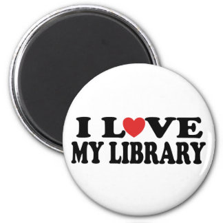 I Love My Library Librarian Gift Refrigerator Magnets