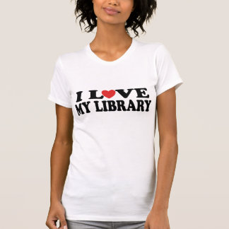 I Love My Library Librarian Gift T-Shirt