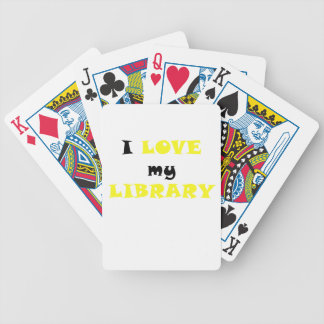 I Love my Library Bicycle Playing Cards