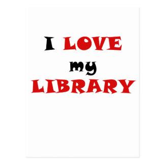 I Love my Library Postcard