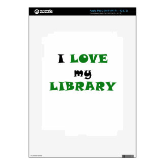 I Love my Library Decals For iPad 3