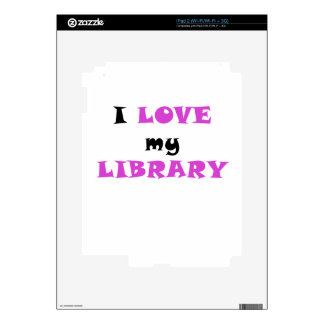 I Love my Library Decals For iPad 2