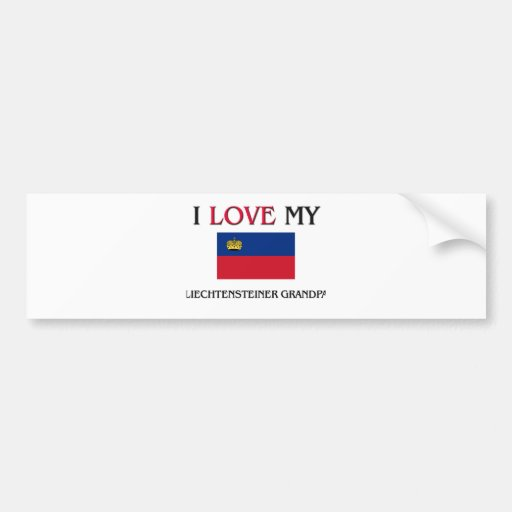 I Love My Liechtensteiner Grandpa Bumper Stickers