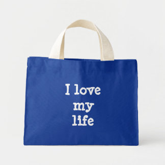 I love my life mini tote bag
