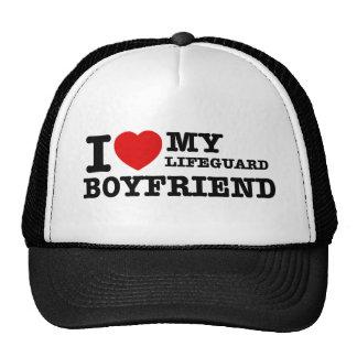 I love my lifeguard boyfriend trucker hat