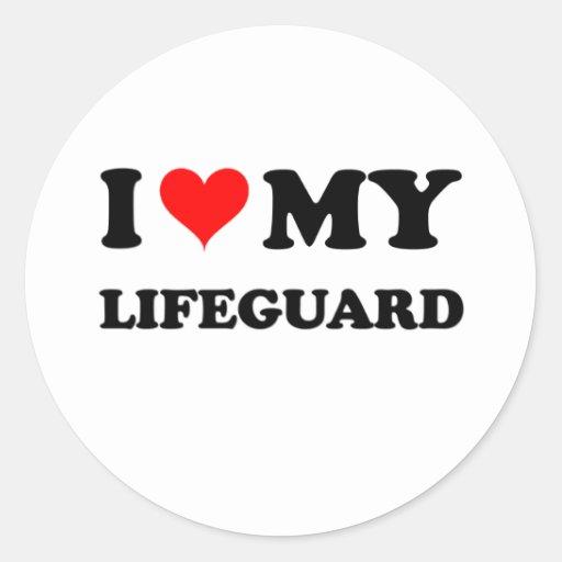 I Love My Lifeguard Sticker