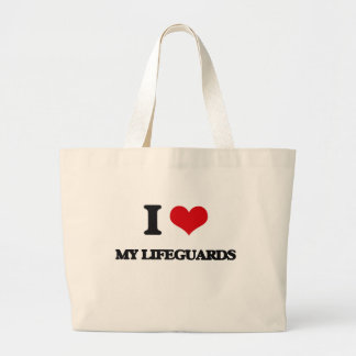 I Love My Lifeguards Canvas Bags