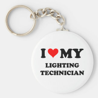 I Love My Lighting Technician Keychain