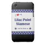 I Love My Lilac Point Siamese (Male Cat) iPhone 3 Case-Mate Cases