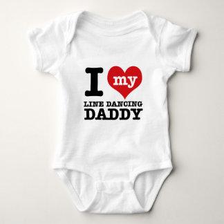 I love my Line Dancer Daddy Baby Bodysuit