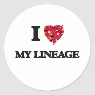 I Love My Lineage Classic Round Sticker
