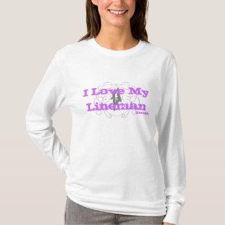 I Love My Lineman Hoody-Purple T-Shirt