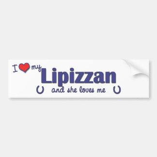 I Love My Lipizzan (Female Horse) Car Bumper Sticker