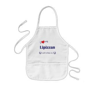 I Love My Lipizzan (Male Horse) Aprons