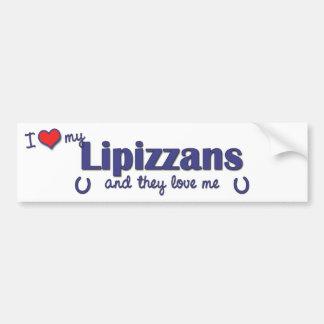 I Love My Lipizzans (Multiple Horses) Car Bumper Sticker